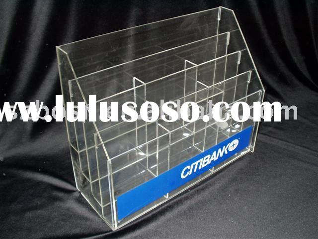 Acrylic Brochure Holder,Perspex Desktop Organizer,Lucite Book Shelf