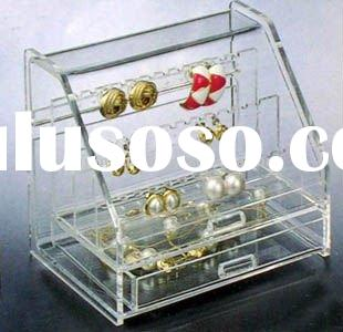 Acrylic Jewelry Ring Earring Display Showcase Cabinet