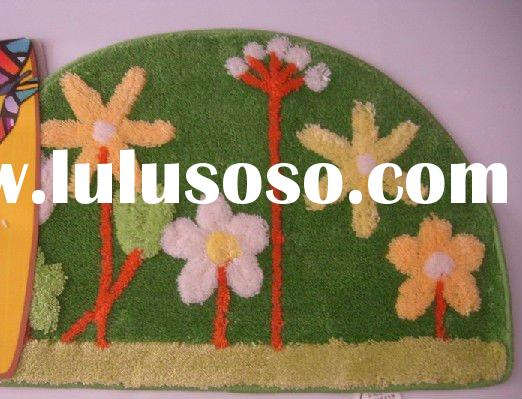 Acrylic Kids Floor Mat Washable Floor Mat Acrylic Flower Carpet Acrylic Flower Rug Acrylic Flower Ma