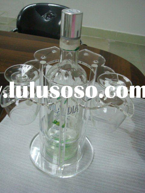 Acrylic Wine Holder, Perspex Wine Rack, Plexiglass Wine Display;
