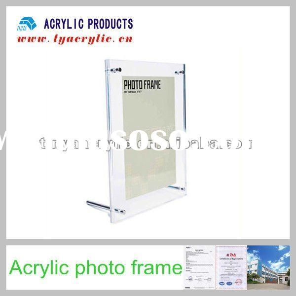 Acrylic photo frames with clear two pieces and screws