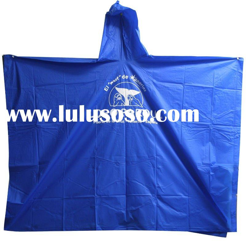 Adult PVC Ladies Poncho Raincoat/raincoat/ rain poncho