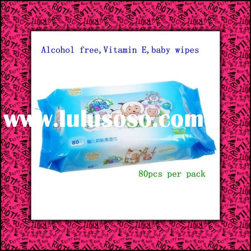 Alcohol free,baby tender moisturizing wipes for skin care