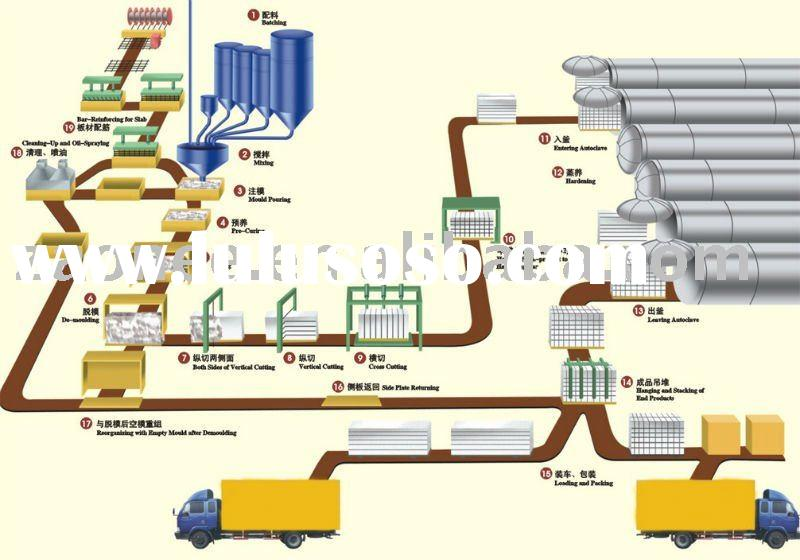 Autoclaved Aerated Concrete Plant/AAC Equipments: hoist/ mould/steam-curing cart