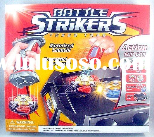 Battery operated super top plastic toy