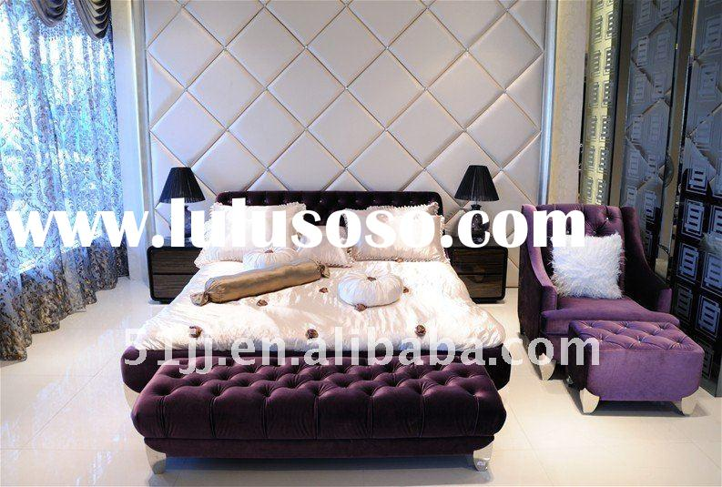 Bedroom home furniture in modern style purple color LH-F-01-P