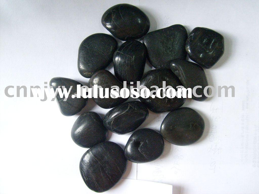 Black River Pebble, pebble stone, paving stone, yellow pebble, black pebble, river stone