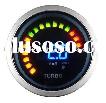 Boost Gauge (Auto Meter / Racing Gauge 52mm digital 2 in 1 Boost / Turbo with Volt)
