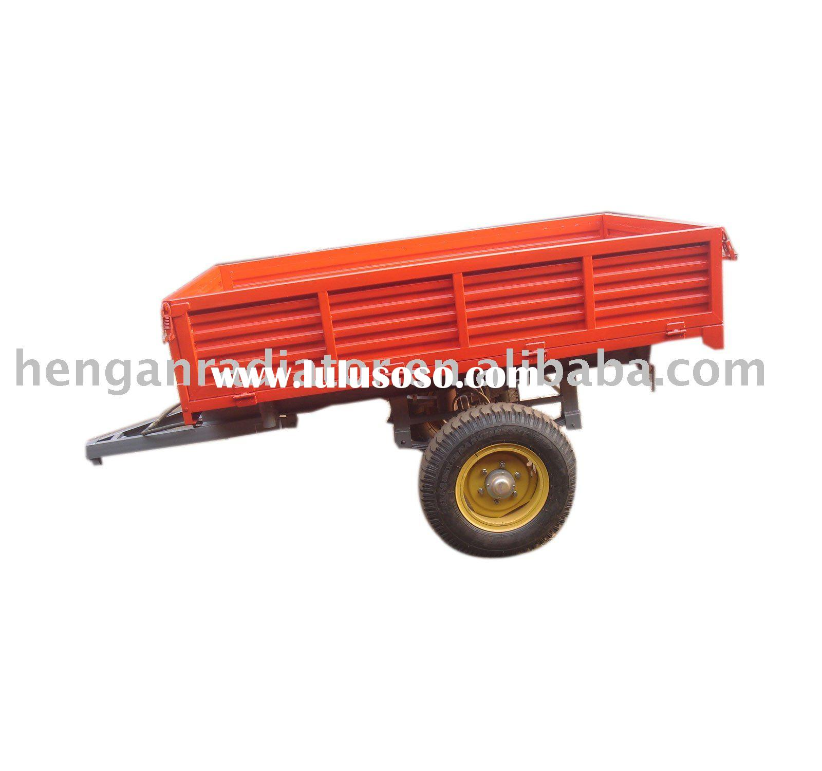 CE single axle 2-wheel 3ton trailer with tractor