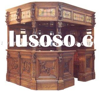Classical carving wooden bar furniture set/bar table/bar cabinet