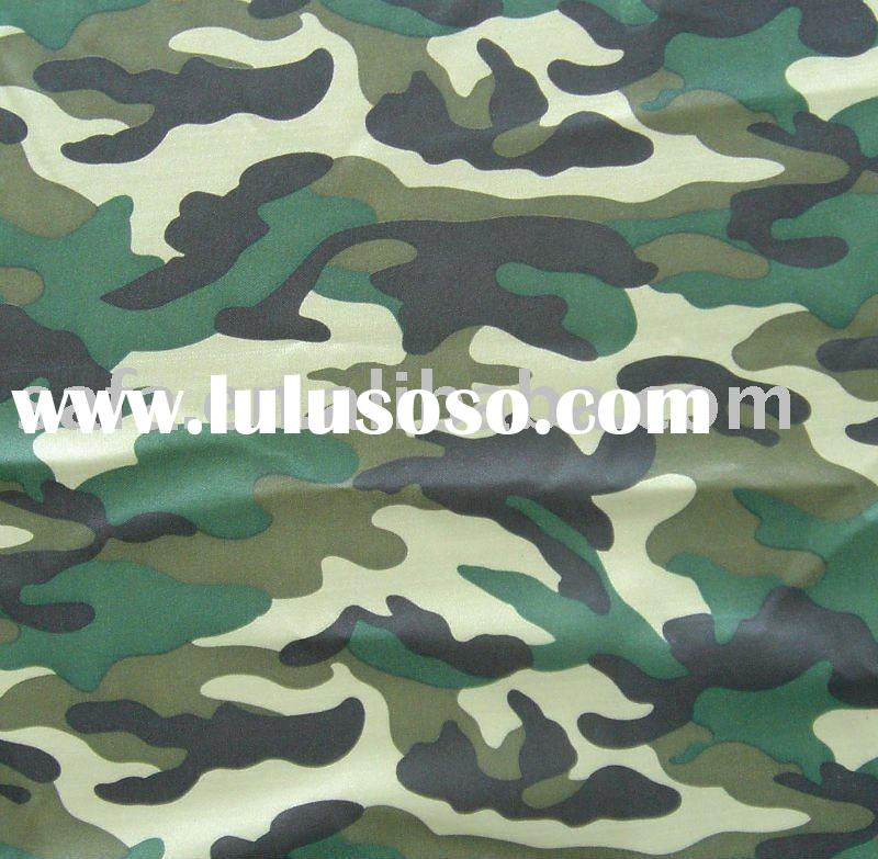 Coated printed polyester fabric for bags