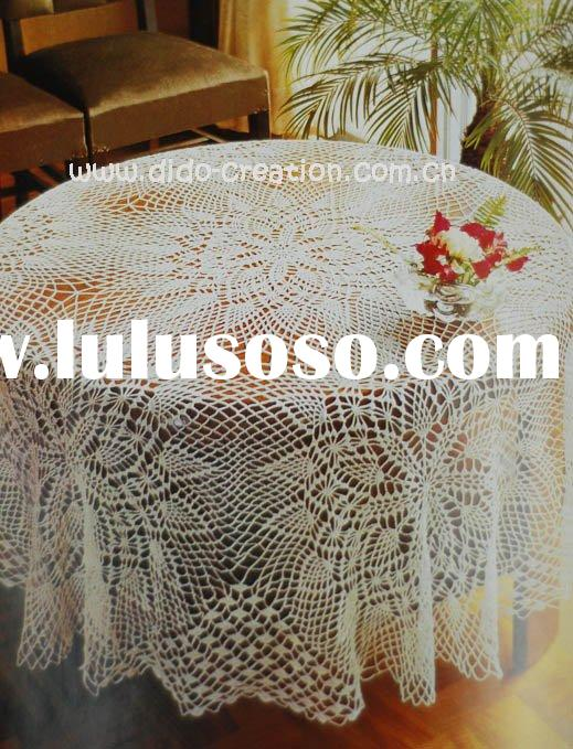DD04003 Handmade Crochet Classic Table cloth Lace Round 100% cotton Doilies Cup Coaster Mat Tableclo