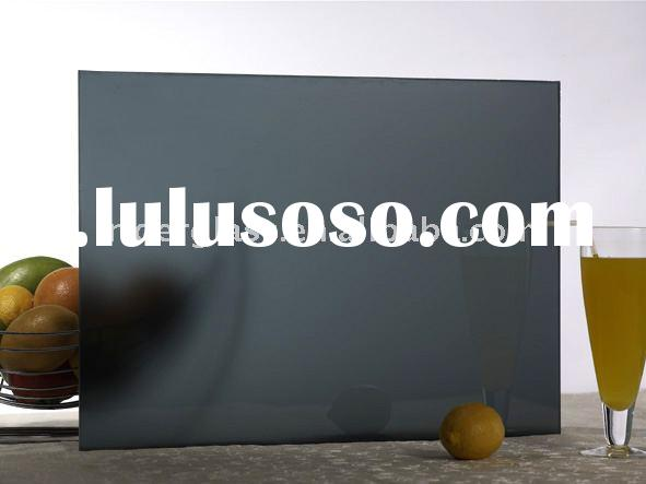 Dark Grey Acid Etched Glass(Frosted Glass) Sheet for Bathroom Door with CE and ISO9001