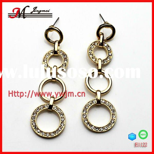 E1122 2012 golden earring designs for women