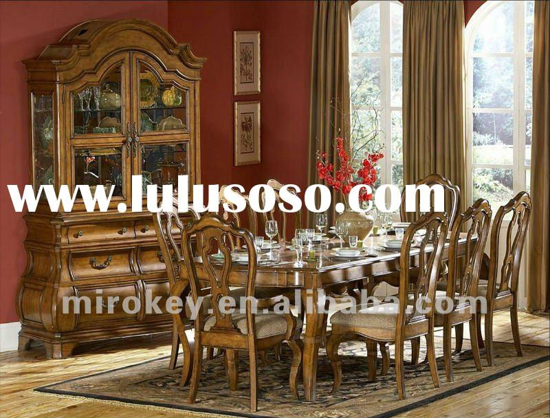 Elegant Antique Wood Dining room set include dining table,arm chair and side chair