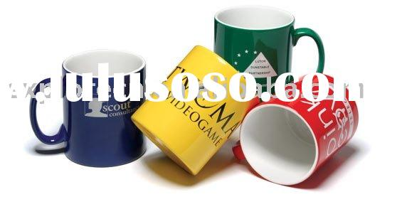 Enamel personalised mugs