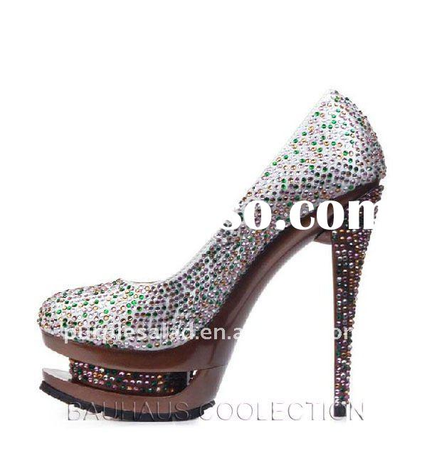 Fashion Platform Diamante Crystal High Heel Shoes