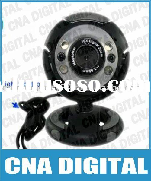 Free Shipping Plug and play computer Web Camera USB 6 LED Webcam w/Mic Digital Camera,usb webcam,pc
