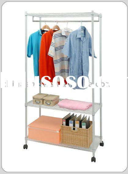 Galvanized Wire Clothes Shelving