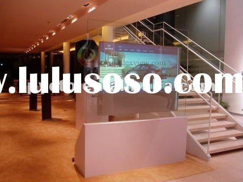 Holographic screen film for rear projection shop windows video paly Exhibition window advertising sc