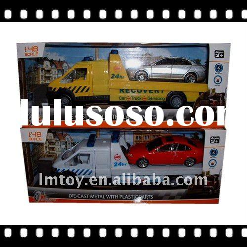 Hot pull back alloy toy car transporter 1:48 H08324XA