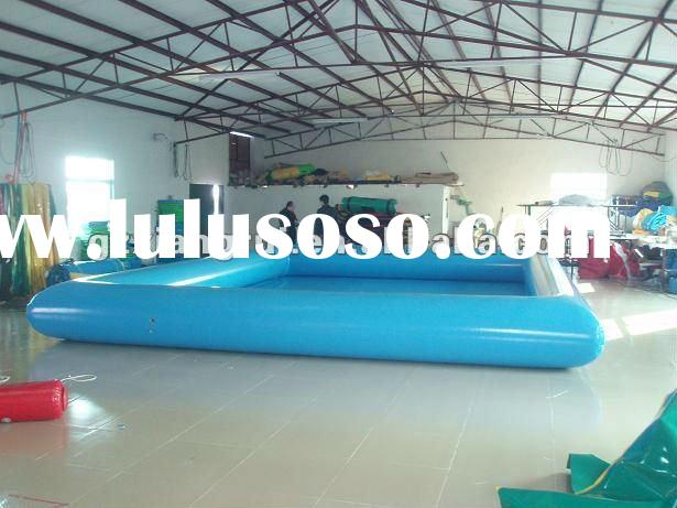 Inflatable above ground swimming pool