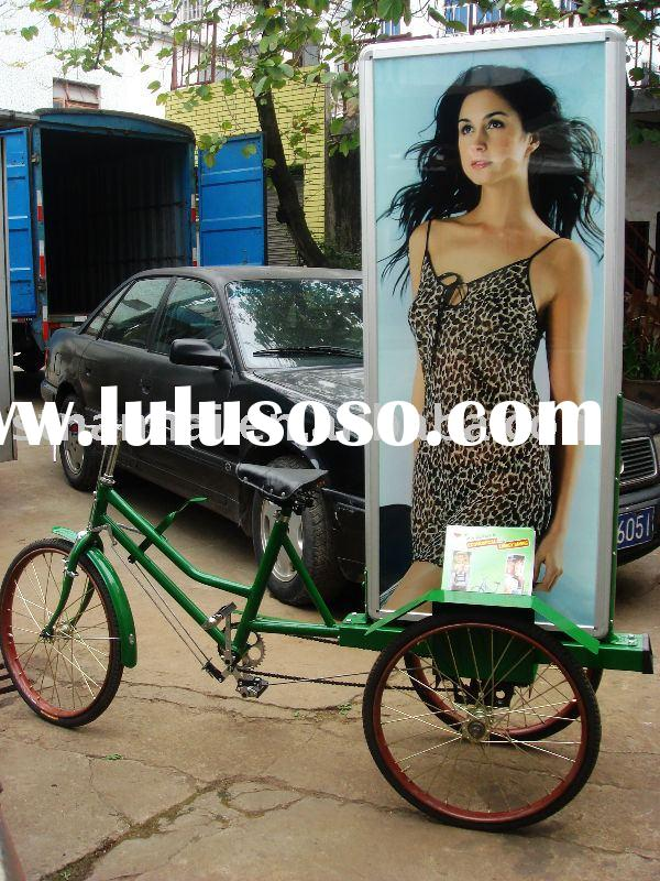 J3-035 mobile tricycle billboard vehicles,with bettery,solar energy,lighted with LED