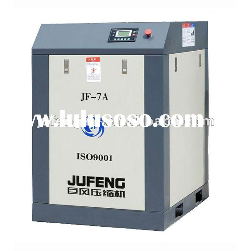 Jufeng 7hp oil-injected screw air compressor