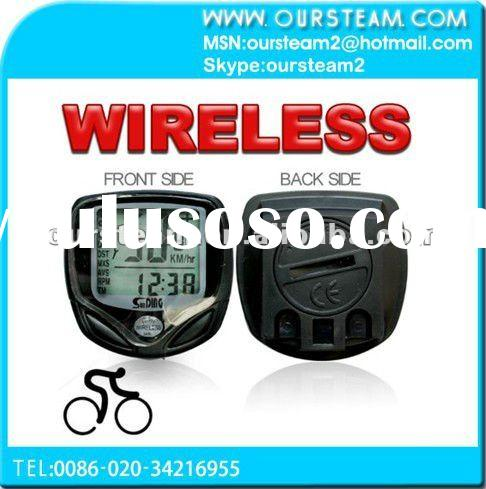 LCD Wireless Cycle Computer Bicycle Bike Meter Speedometer Odometer Black New