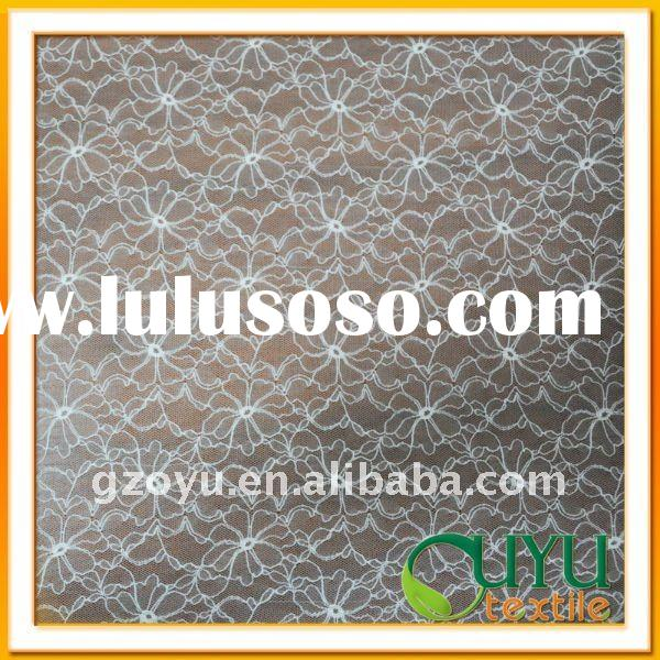 Lace fabric for wedding dress textile