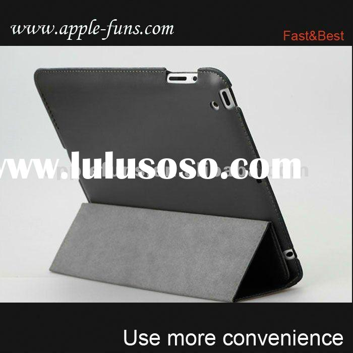 Leather stand case soft cove for ipad 2,for ipad 2 smart cover leather case rotating stand,stand lea