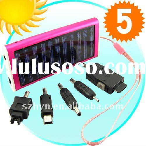 Li-ion battery portable solar charger for iphone 4G ipad mobilephone notebook cellphon laptop camera