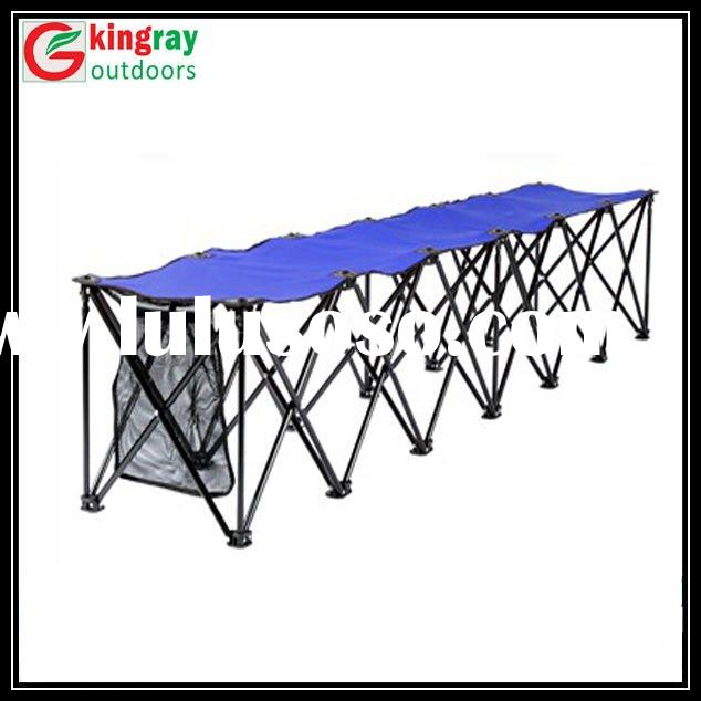 Long outdoor folding chairs