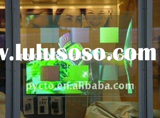 Low price of adhesive rear projection film/foil for shop window, display, glasses, shopping mall, ad