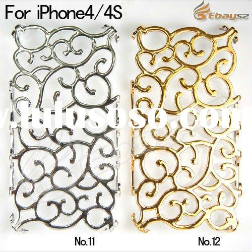 New arrival!Gilding cutout flower vine case for iphone 4 4S