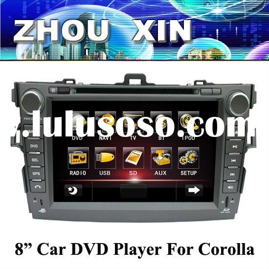 New model of 8 inch Car DVD player for Toyota corolla