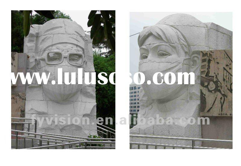 Outdoor white marble stone sculpture