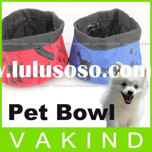 Pet Dog Cat Portable Folding Collapsible Travel Food Water Feeder Dish Bowl