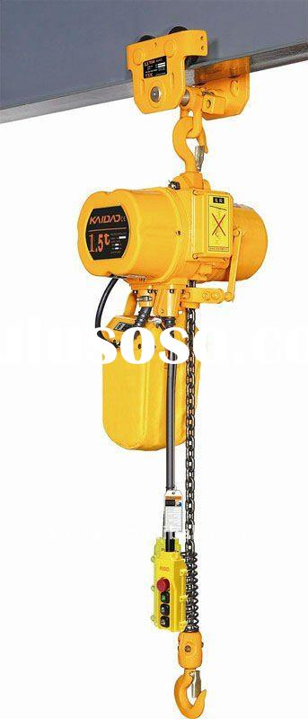 Portable!!!ELK 1.5 ton electric chain hoist with manual trolley