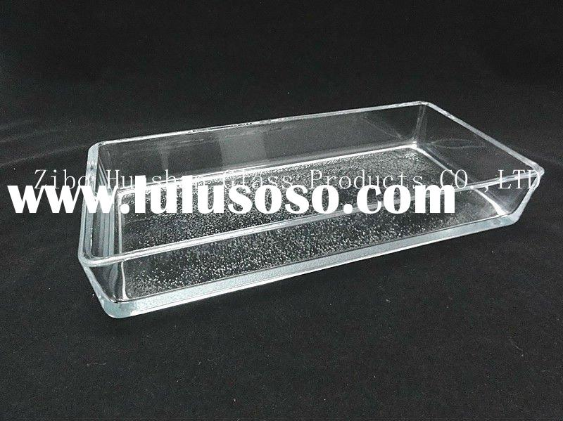 Rectangular borosilicate glass bake pan/microwave oven bake tray/bakeware