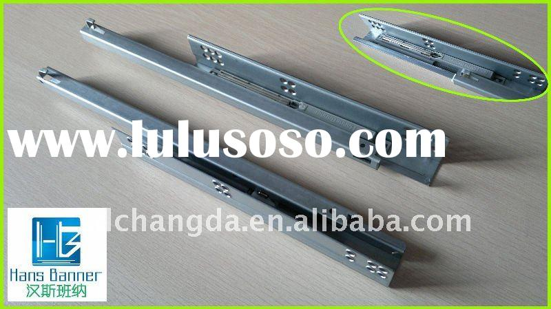 Single extension undermount soft closing drawer slide with handle for furniture hardware