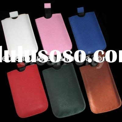 Slim Tube Pull-Tab Holster Leather Case for iPhone 3GS 3G