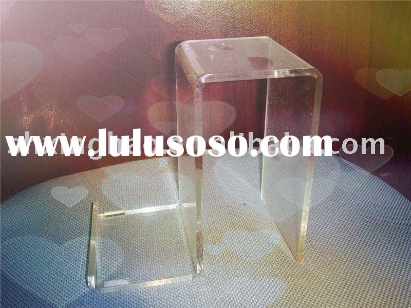 Transparent acrylic shoe display stand,acrylic make up display stands