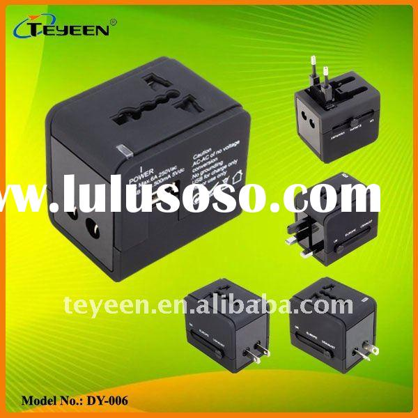 Travel Adapter with USB Charger for Mobile phones, Mp3 etc (DY-006)