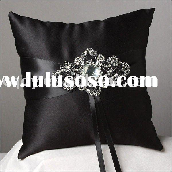 Warm black Wedding ring pillow/Bridal Ring Bearer Pillow/wedding gift/wedding favor/wedding item/wed