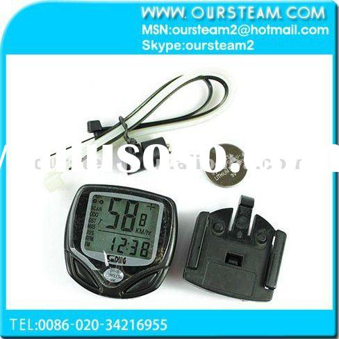 Wireless Cycle Computer Bicycle Bike Meter Speedometer Odometer Black New