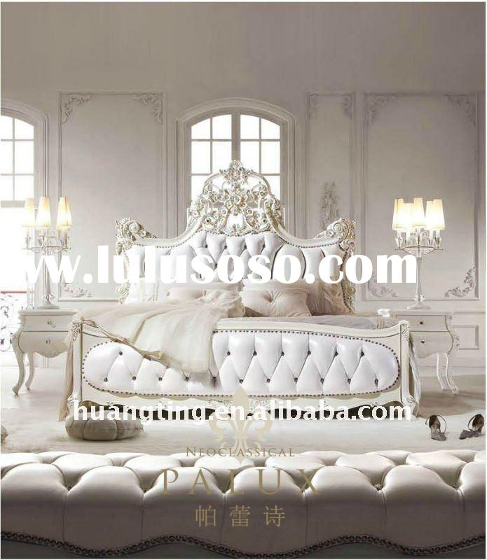 Wood Bedroom Set,home furniture fancy bedroom set,French antique bedroom furniture sets,luxury class
