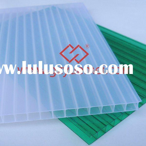 awning Twin wall polycarbonate hollow sheet (SGS, ISO2008 Certificate)
