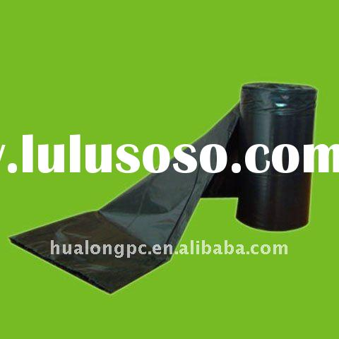 black HDPE t-shirt bags without printing plastic bag garbage on roll