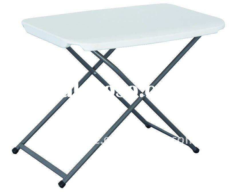 blow mold plastic height adjustable folding table(Up-Down table)